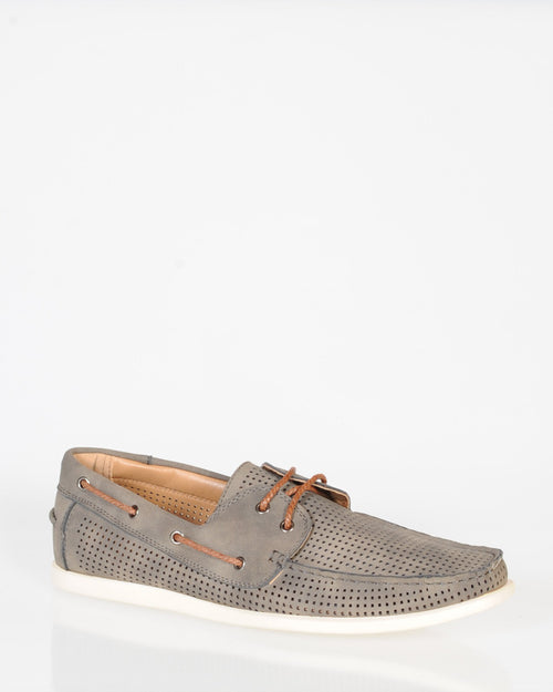 UNCUT MAYA BOAT SHOE - GREY