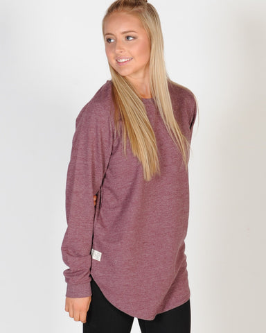 ALL ABOUT EVE LONGLINE JUMPER - BURGANDY
