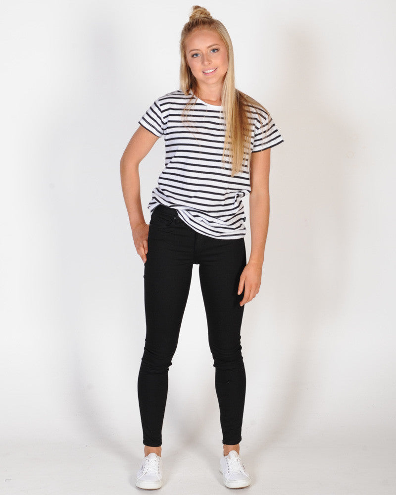 SILENT THEORY POLLY TEE - BLACK STRIPE