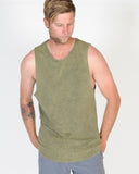 SILENT THEORY ACID TAIL MUSCLE TOP - KHAKI MILITANT