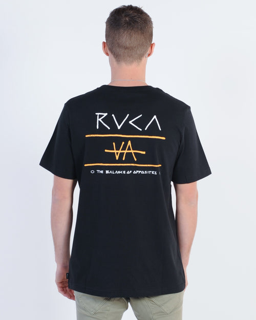 Rvca Split Decision Tee - Black