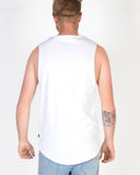 SILENT THEORY ACID TAIL MUSCLE TOP - WHITE