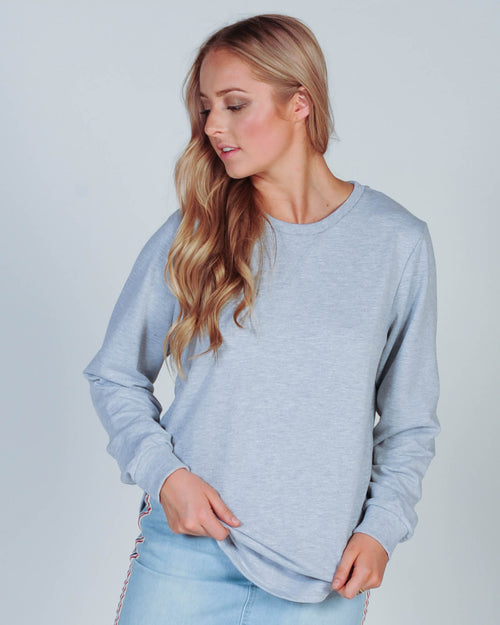 All About Eve Chase Longline Jumper - Grey Marle