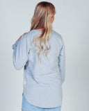 STEVIE L/S DRESS - WHITE