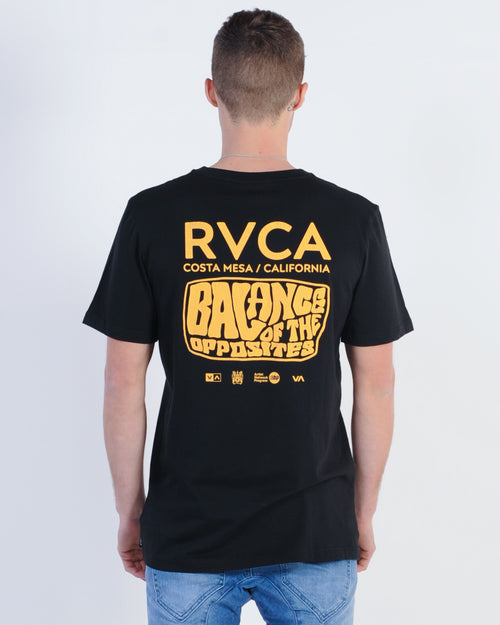 Rvca Stack Em High Tee - Black