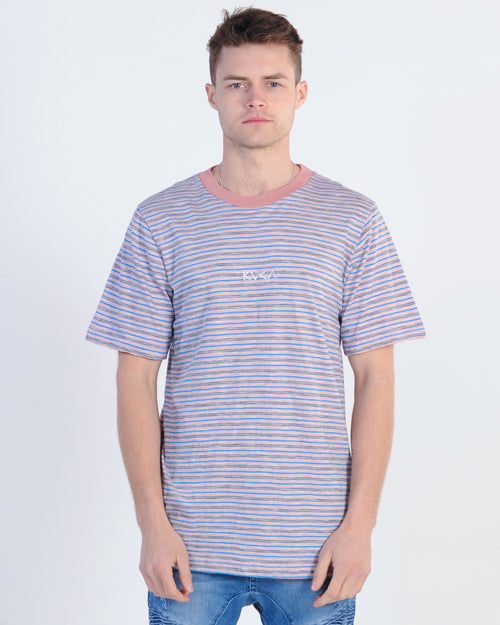 Rvca Foz Stripe Tee - Dusty Rose