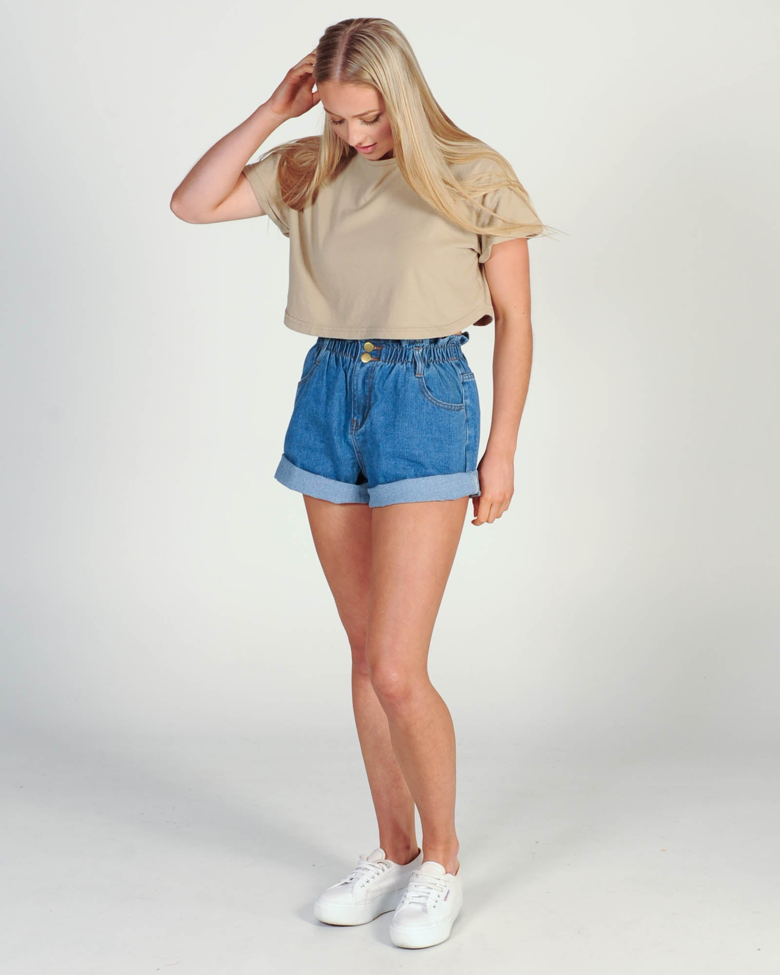 Silent Theory Bite The Bullet Crop Top - Beige