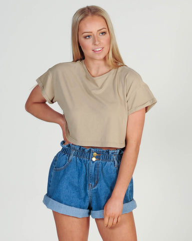 Madison Skivvy Top - Mustard