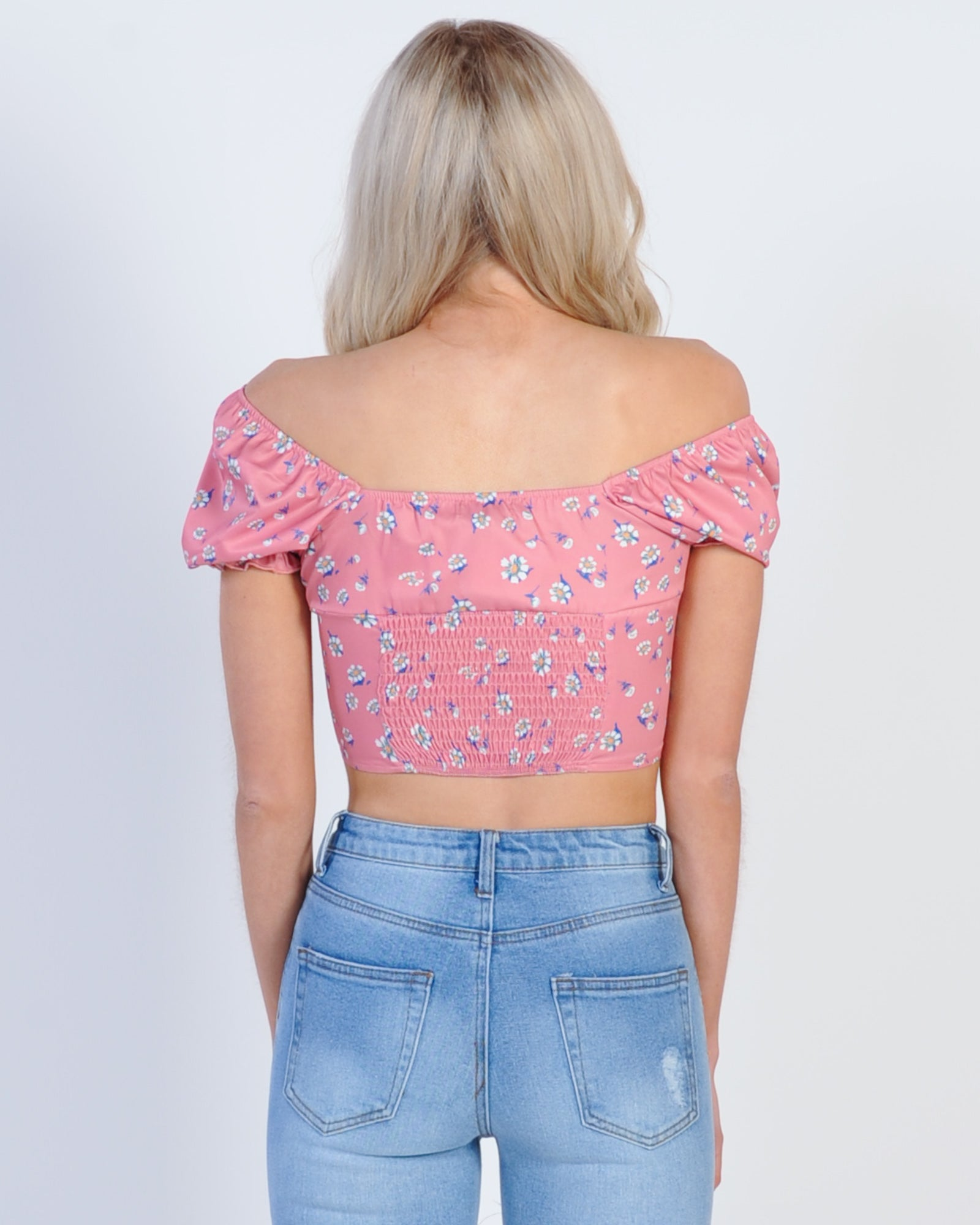 Sweet Eyes Crop Top - Pink