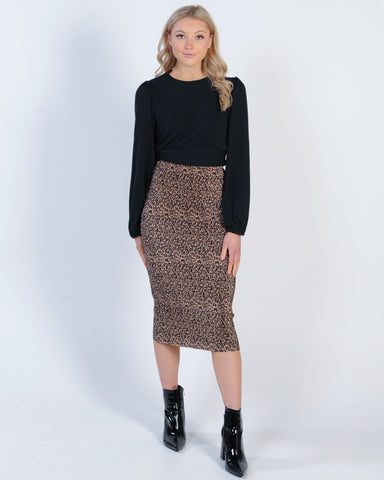 GIRL TALK SUEDE SKIRT - PINK