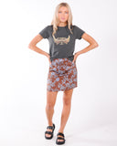 GIRL TALK SUEDE SKIRT - TAN