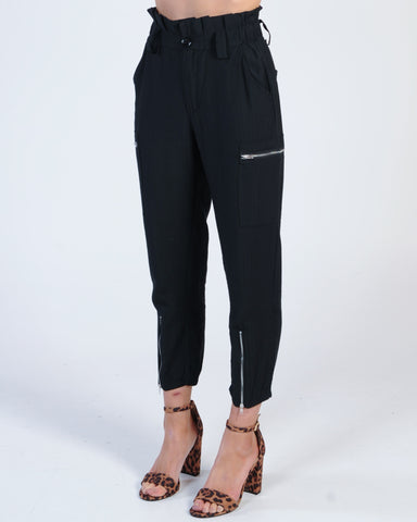 Full Moon High Waisted Pant - Midnight Black