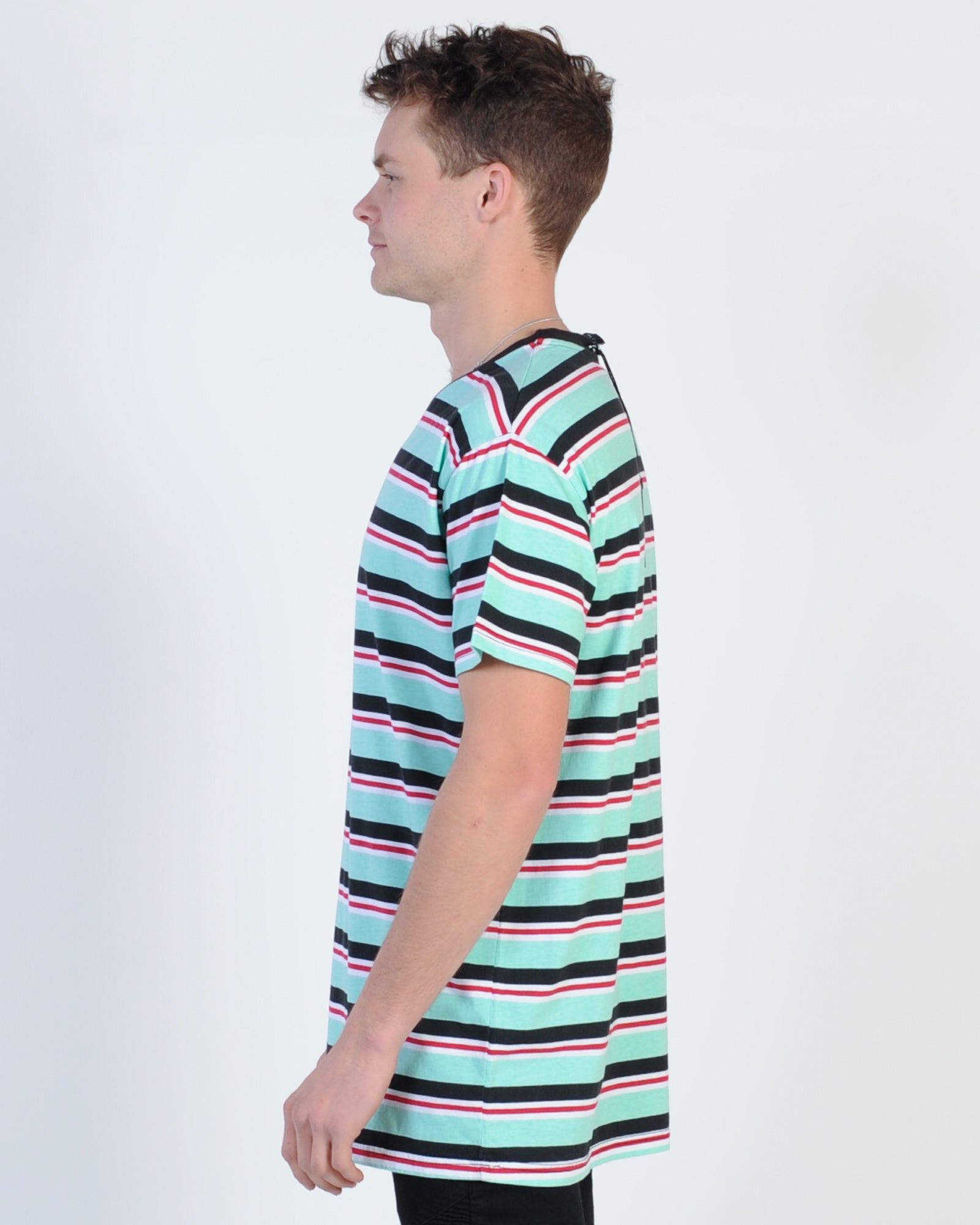THE FIFTH LABEL ADVENTURE STRIPE T/SHIRT - RED AND WHITE