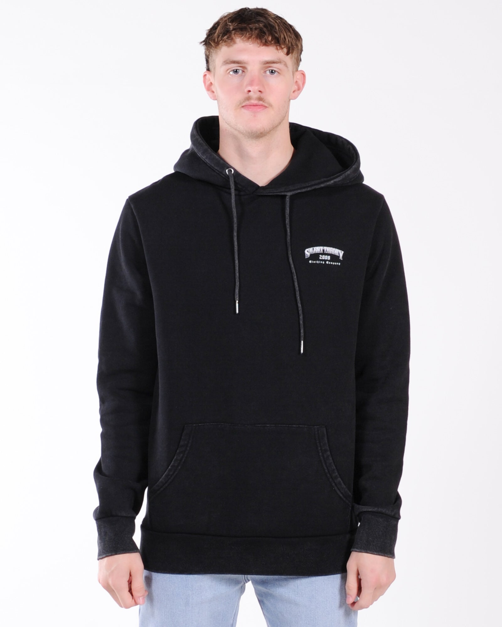 Silent Theory American Eagle Hood Sweat - Washed Black