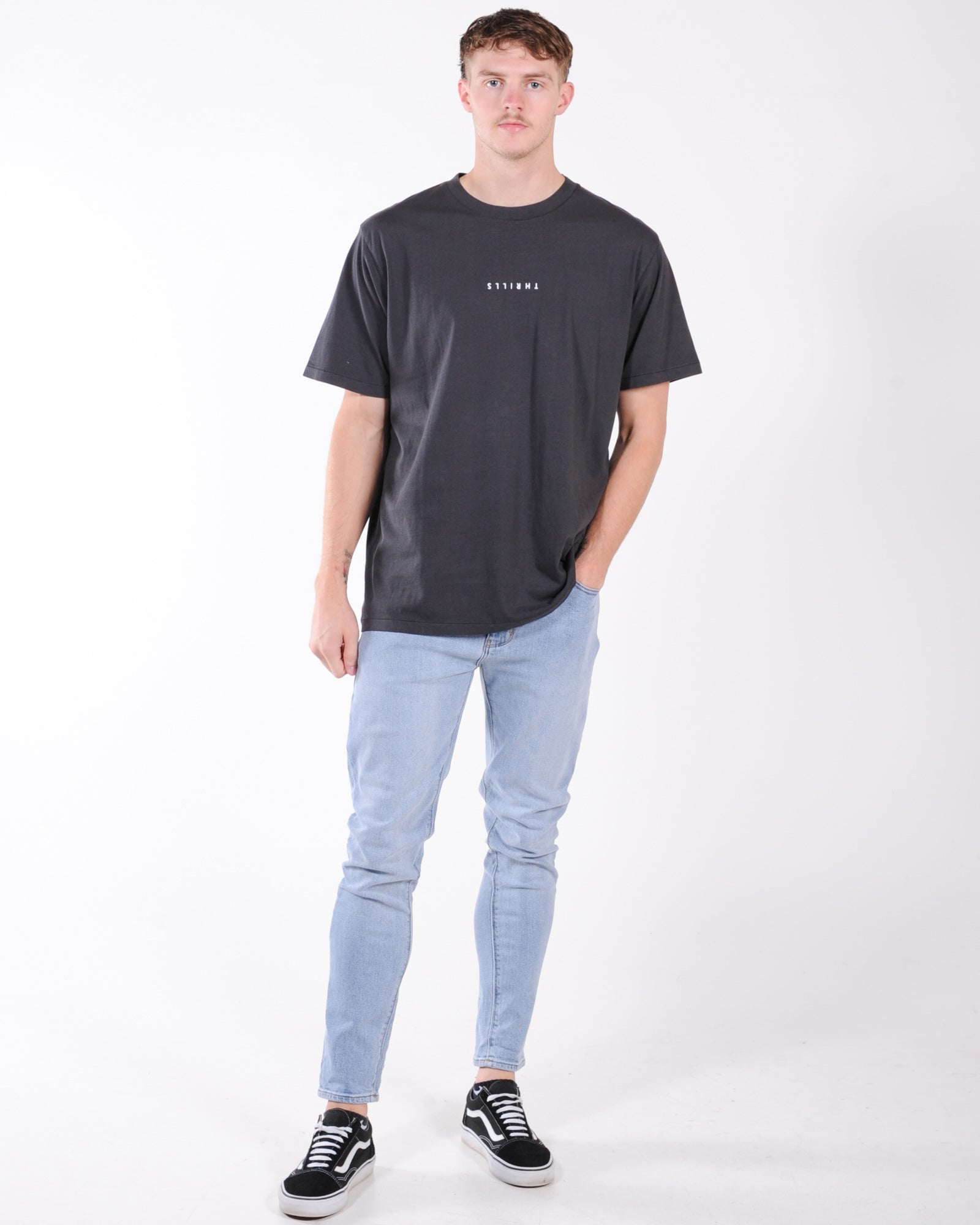 Thrills Minimal Thrills Merch Fit Tee - Heritage Black