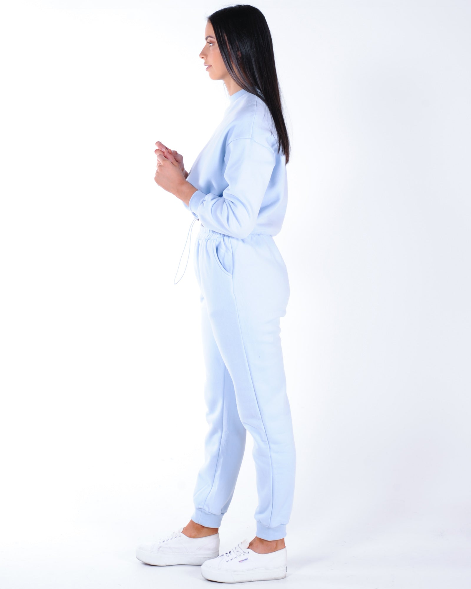 Tik Tok Trackpant - Dusty Blue