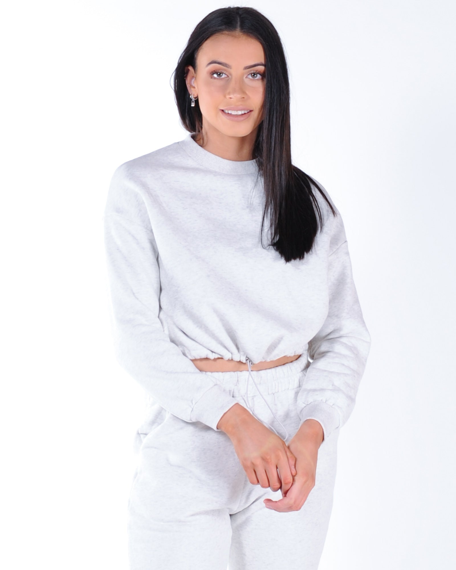 Tik Tok Sweat - Grey Marle
