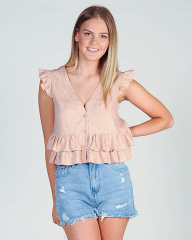 Madison Skivvy Top - Khaki