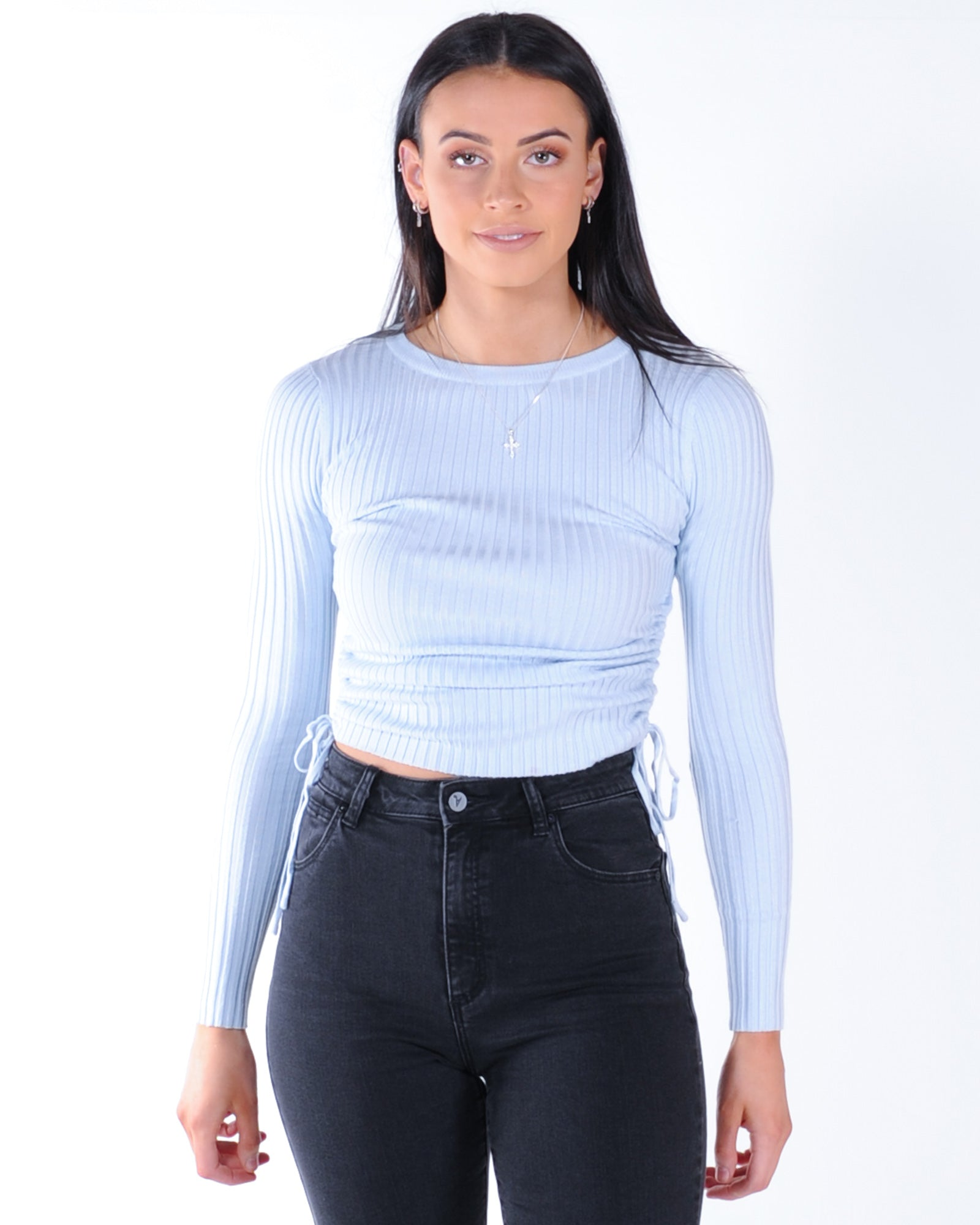 Keeping Up Appearances Knit Top - Blue
