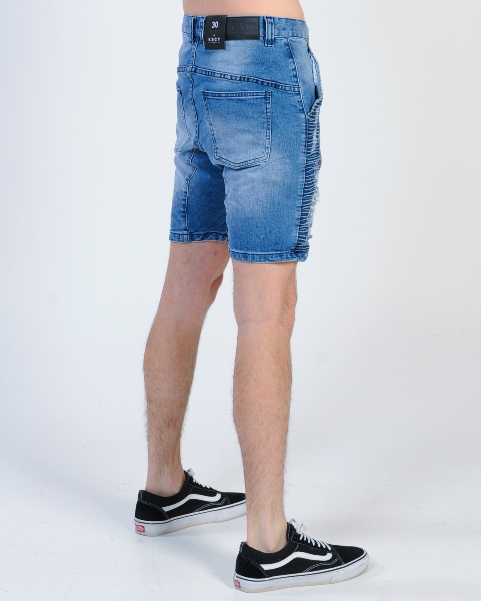 Kiss Chacey Zeppelin Denim Short - Sunfire Blue