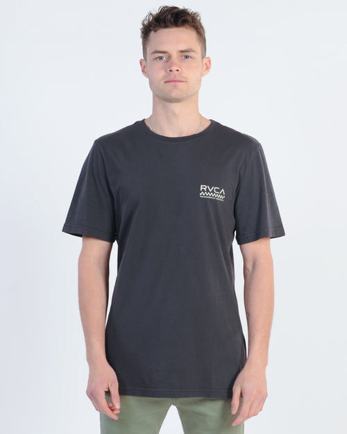 Rvca Check Mate Tee - Black