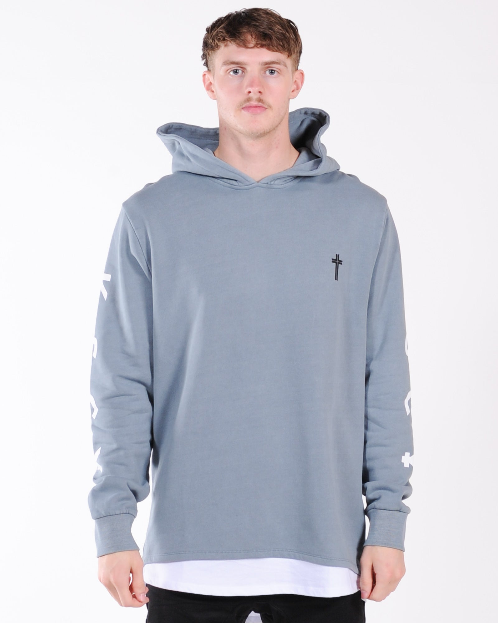 Kiss Chacey Exchange Hood Layered Cape Back Sweat - Pigment Lead