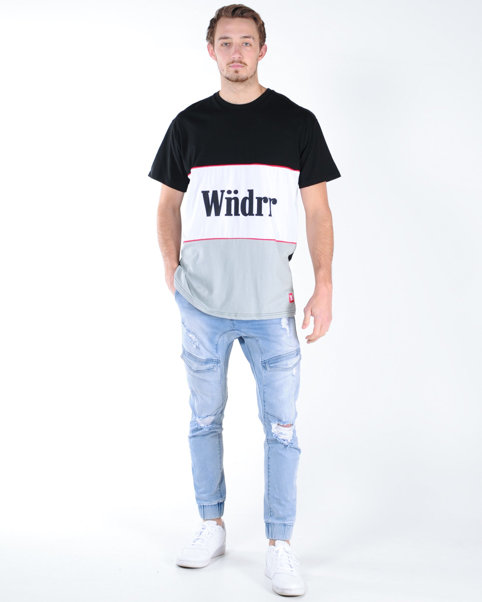 Wndrr Founder 3 Panel Custom Fit Tee - Multi