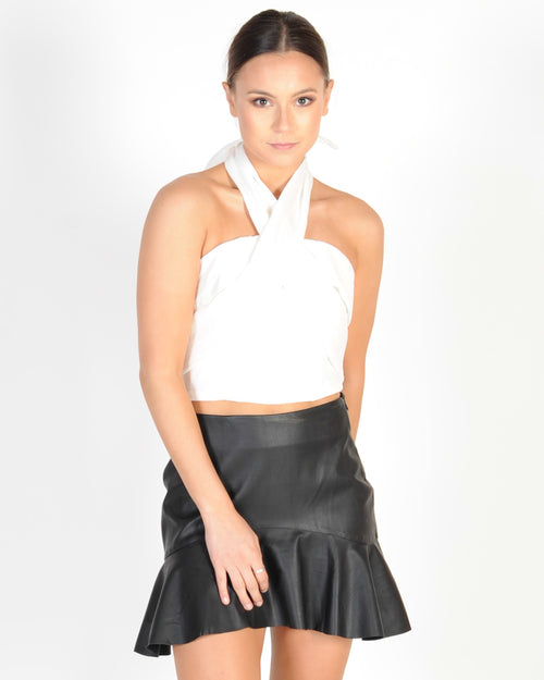 CONFIDENCE STRAPLESS TOP - WHITE