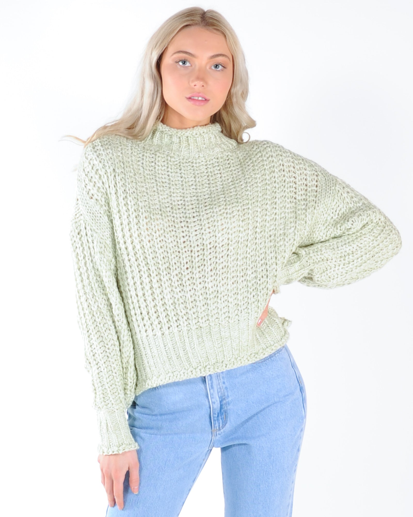 Encore Knit - Green Mix