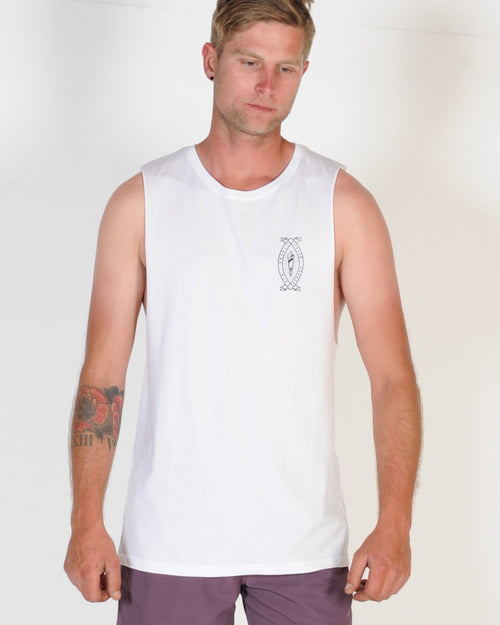 DTB SUPPLY CRYSTAL MUSCLE TOP - WHITE