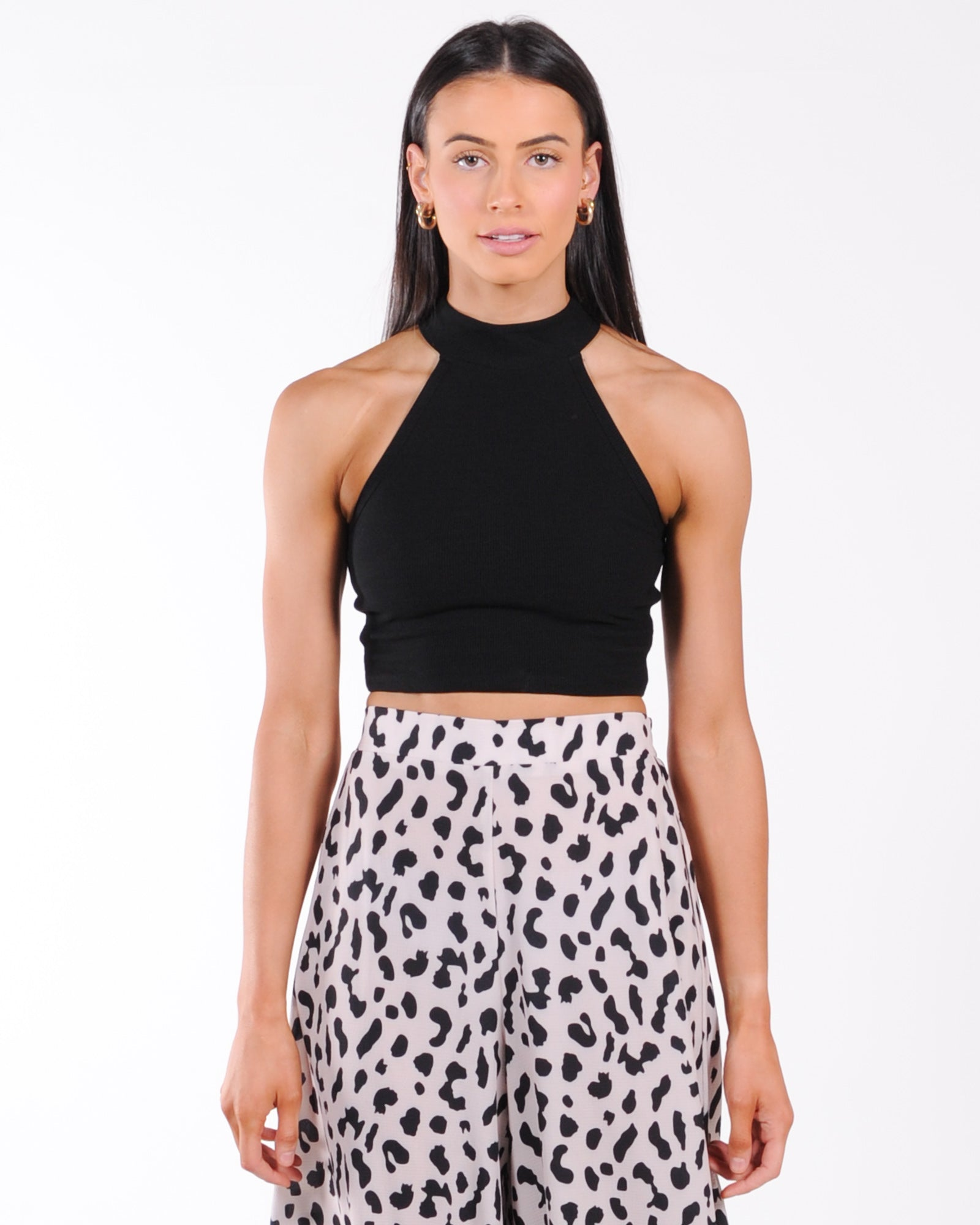Runaway The Label Mio Halter Top - Black