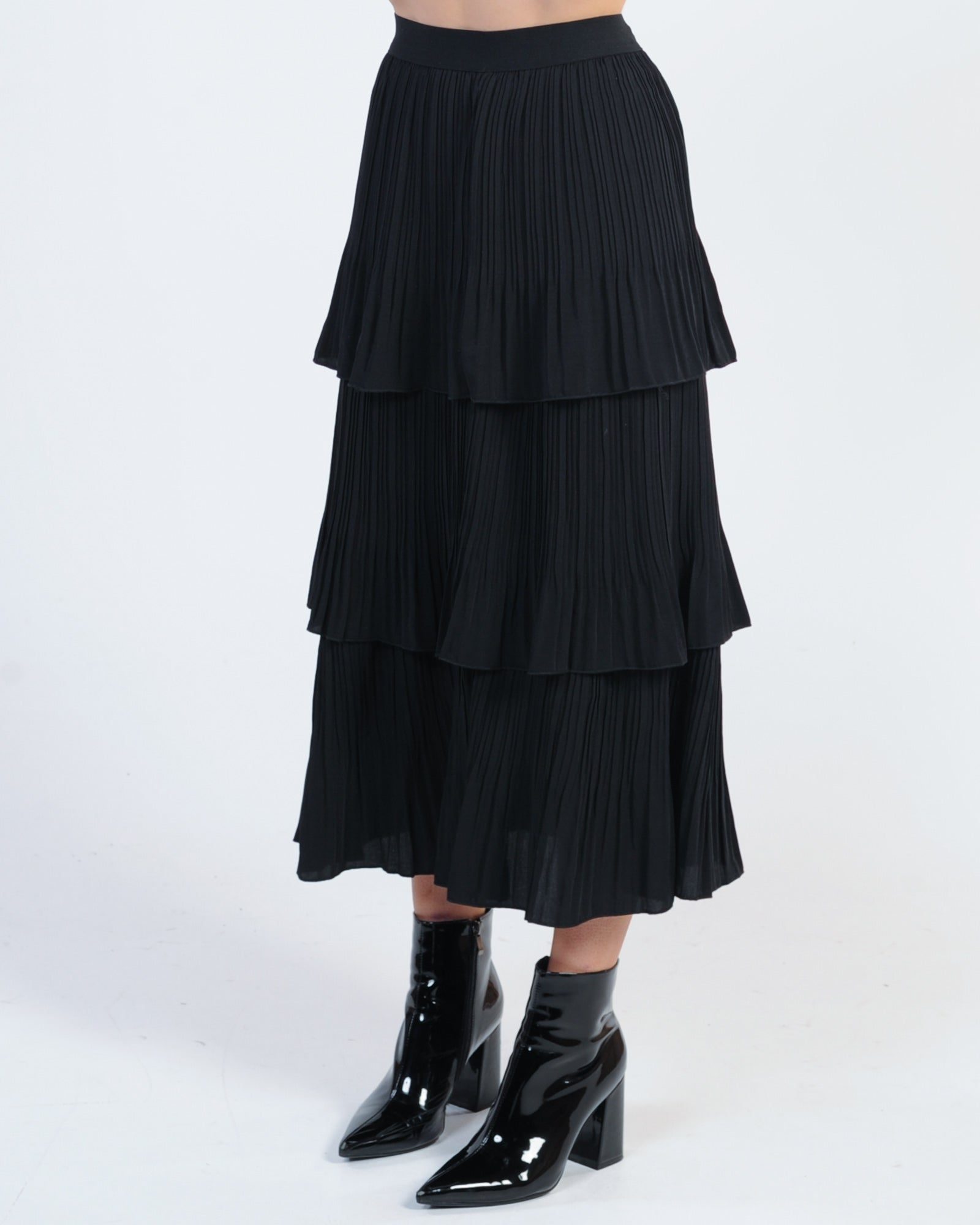Love Story Midi Skirt - Black