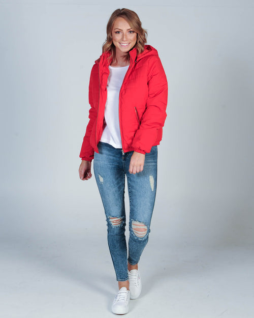 ALL ABOUT EVE ROSA PUFFA JACKET - RED