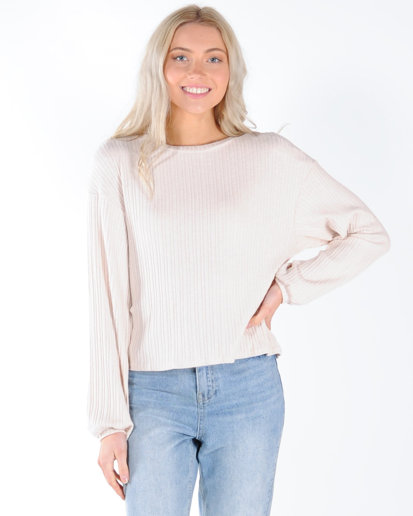 The Frankie L/S Top - Beige