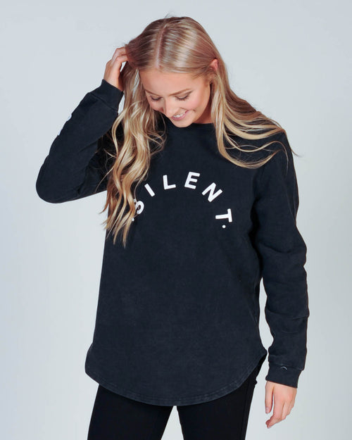 Silent Theory Distance Fleece - Washed Black