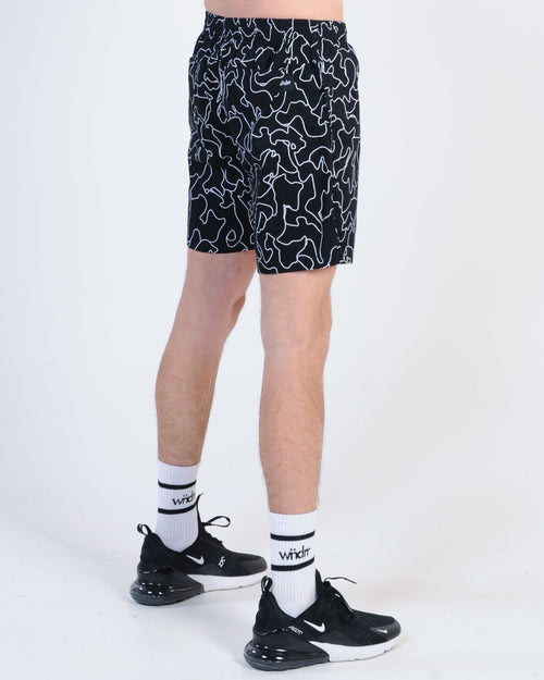 Wndrr Silhouette Beach Short - Black/White