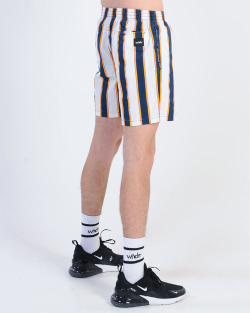 Wndrr Rerun Stripe Beach Short - Multi