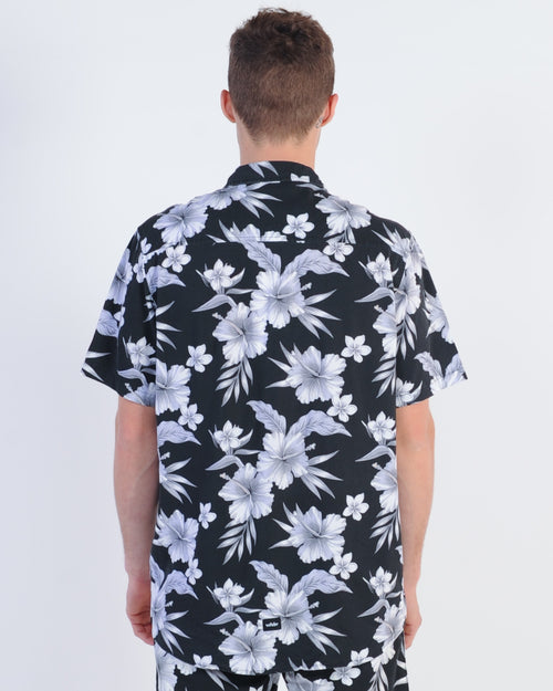 Wndrr Holiday Floral S/S Shirt - Black