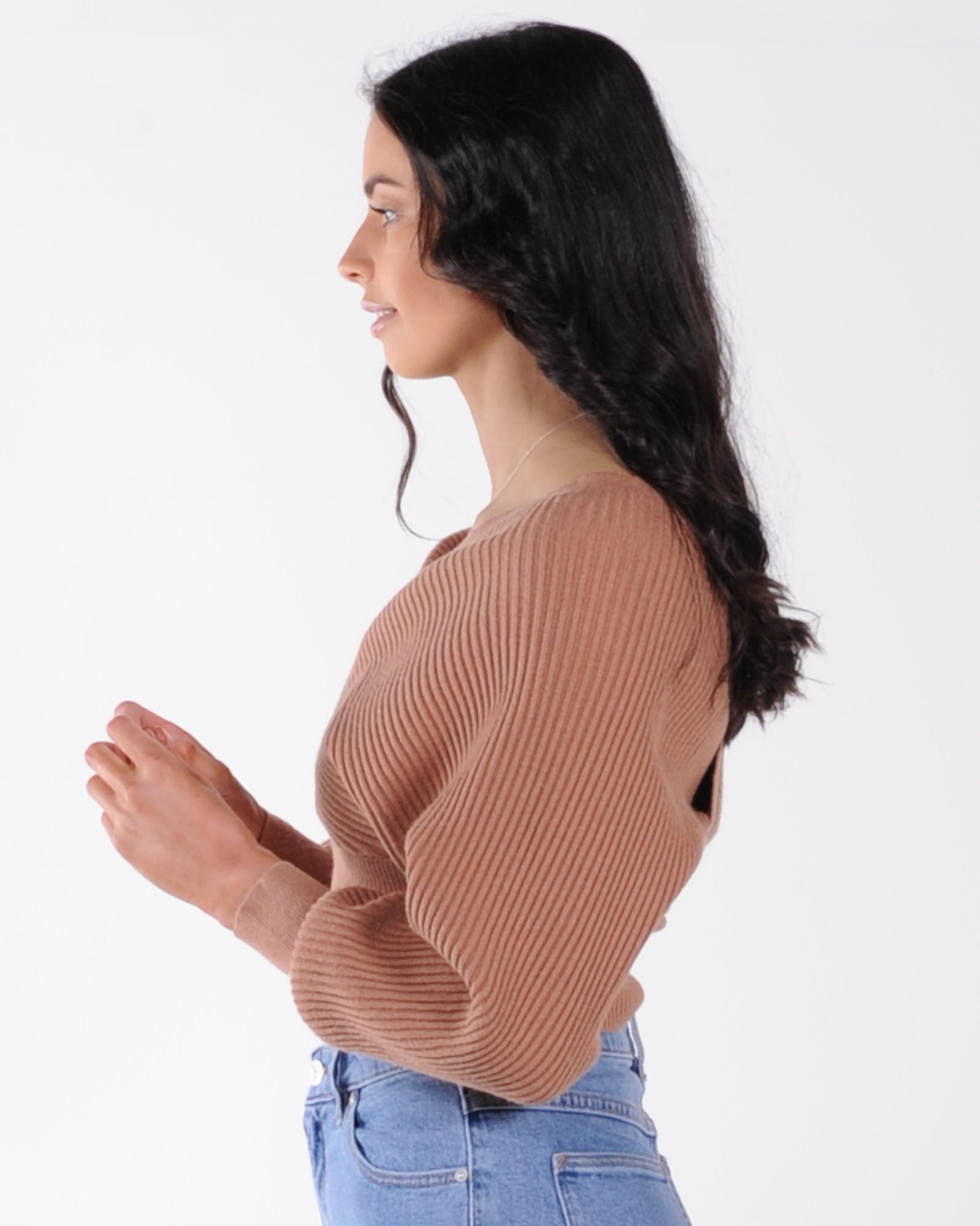 Wine Night Knit - Tan