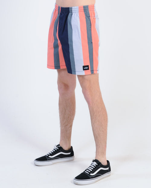 Wndrr Nation Stripe Beach Short - Multi