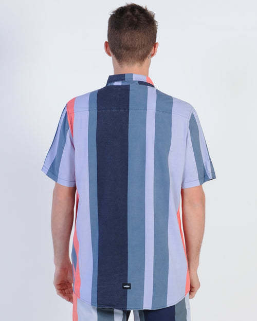 Wndrr Nation Vert Stripe S/S Shirt - Multi