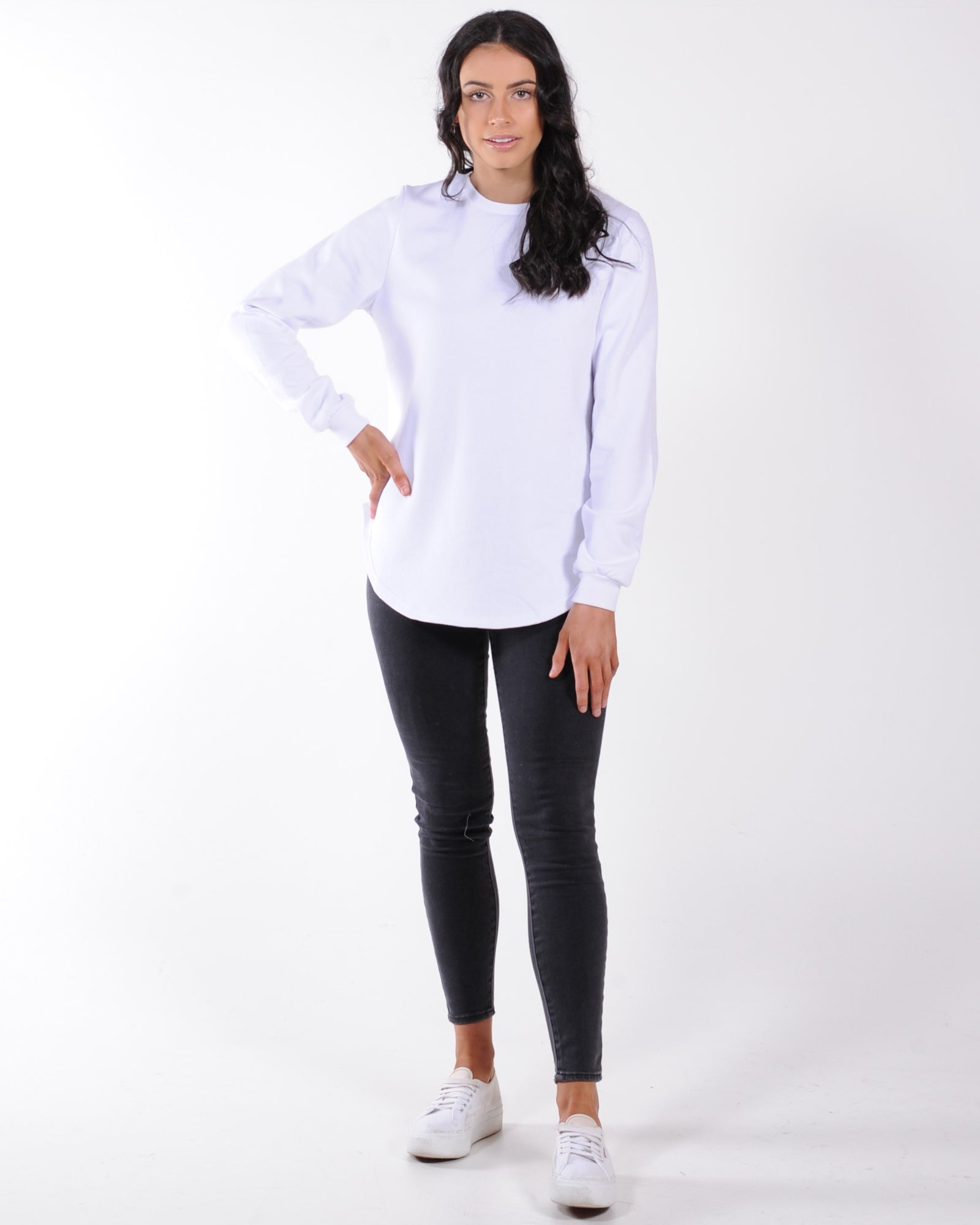 Silent Theory Classic Crew Sweat - White