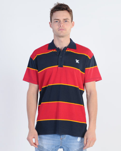 Wndrr Bay Side Stripe Polo Top - Multi