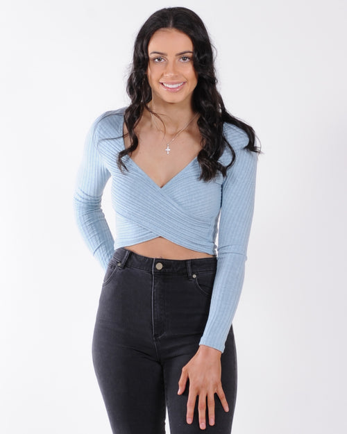Moving On Frill Top - Black