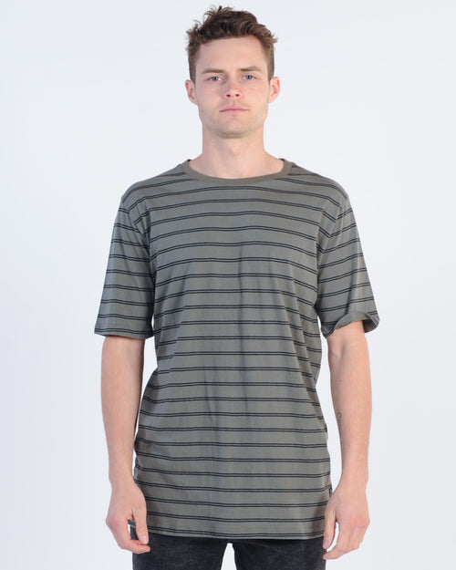 Industrie Colombian Stripe Tee - Military/Black