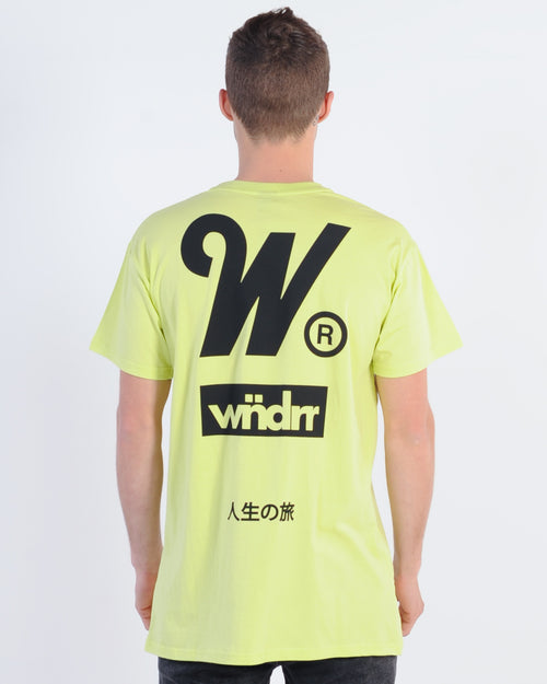 Wndrr Spark Custom Fit Tee - Fluro Green
