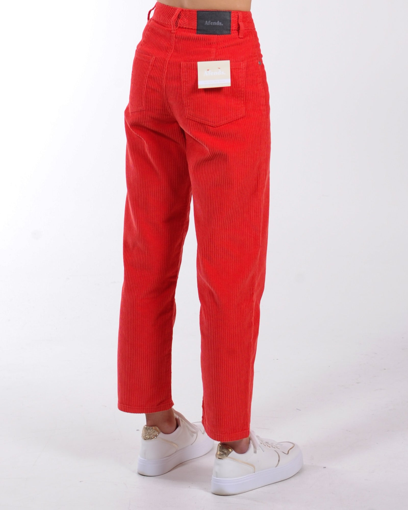 Afends Shelby Mixed Corduroy - Flame Red