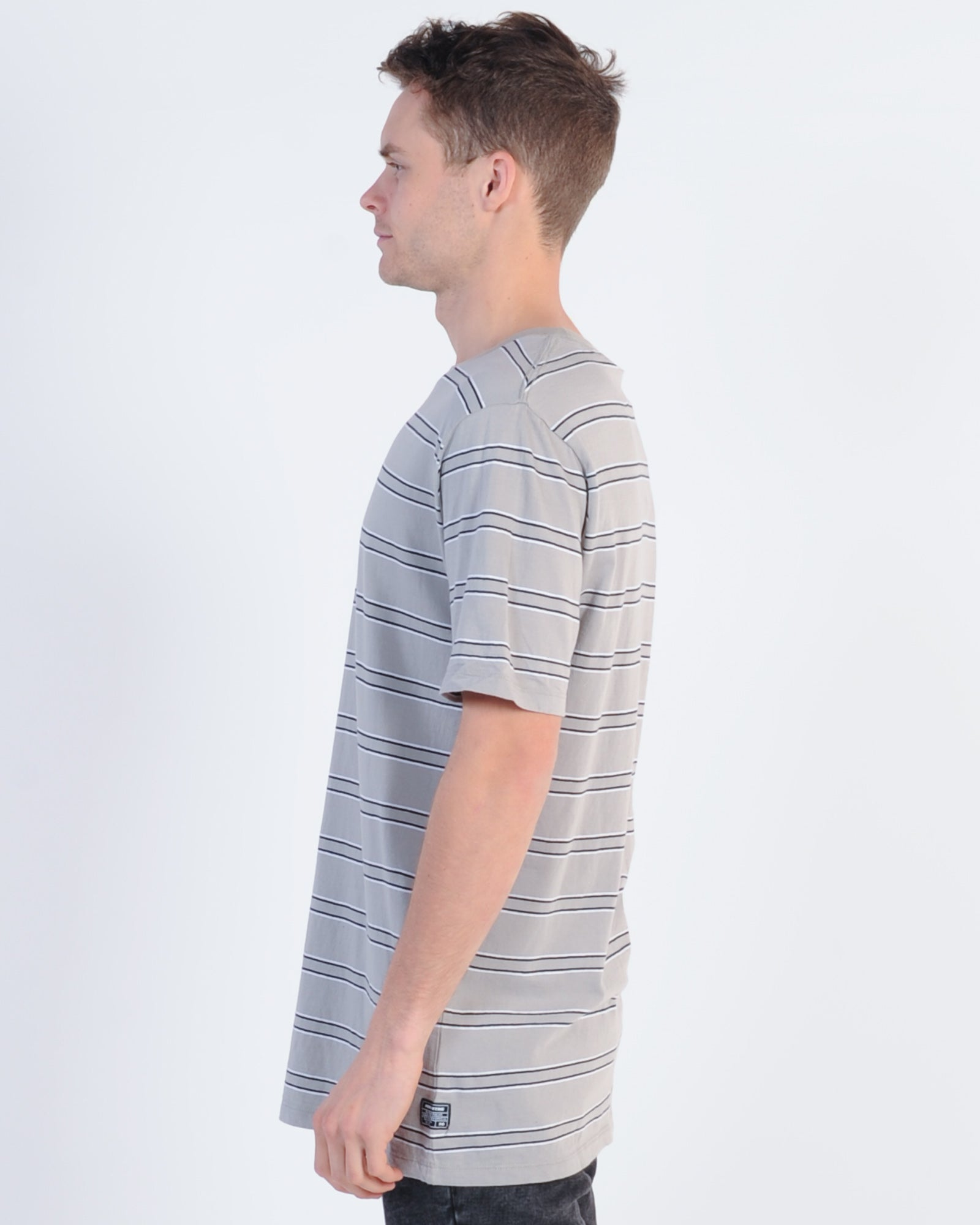 Industrie Seattle Stripe Tee - Pumice