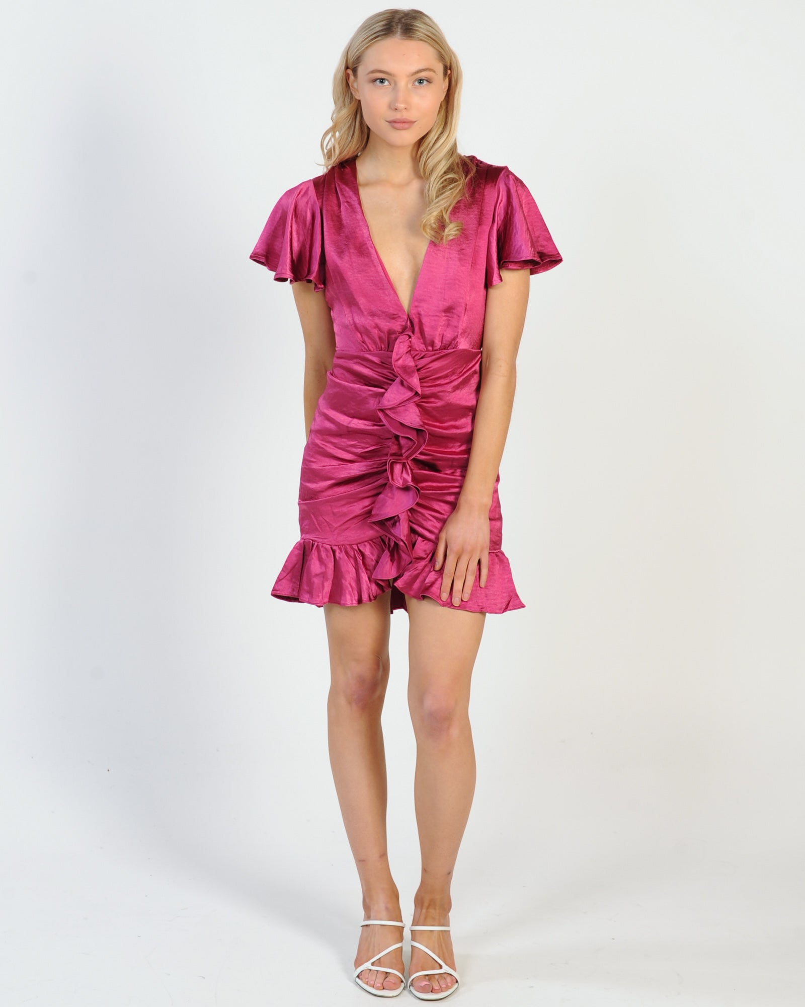 To Be Noticed Dress - Plum