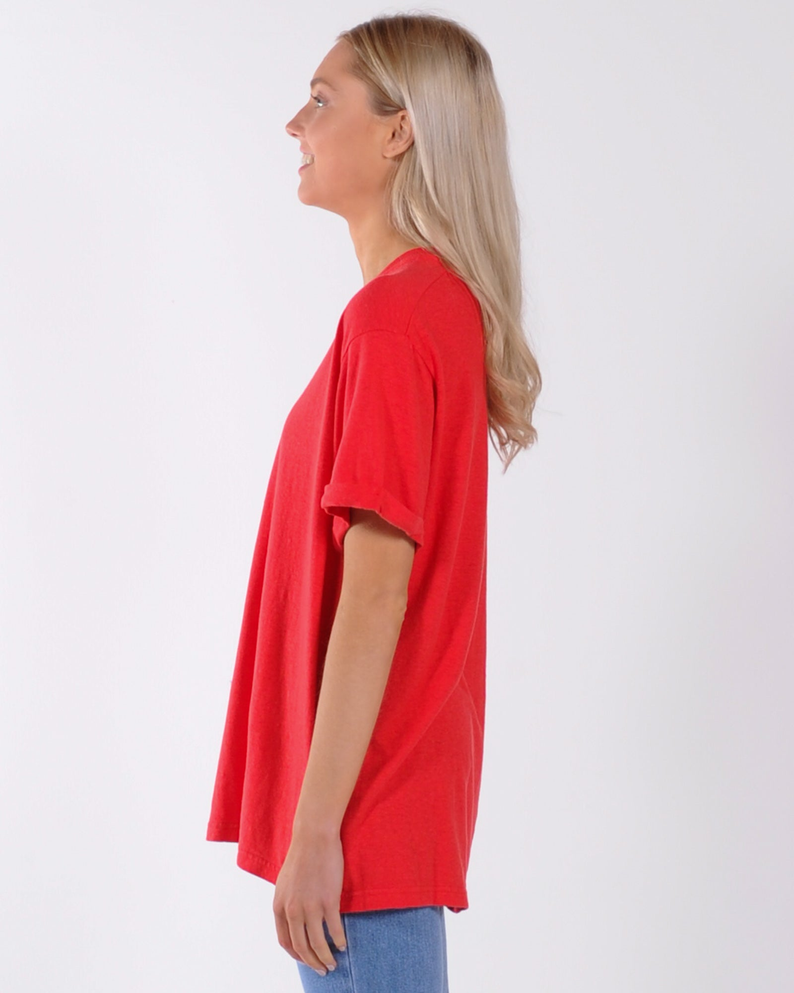 Afends Hemp Revolution Oversized Tee - Flame Red